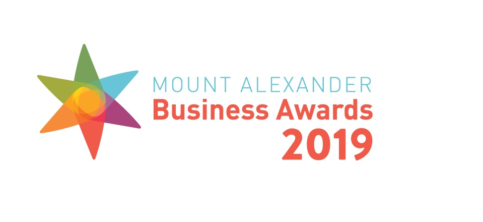 Image: Logo for Mount Alexander Business Awards 2019  Link to child page: Business awards