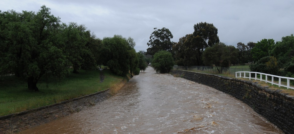 Image: Floods along Forest Creek  Link to child page: Drainage