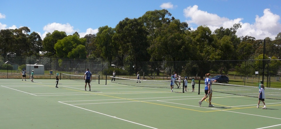 Image of tennis courts at Newstead Recreation Reserve