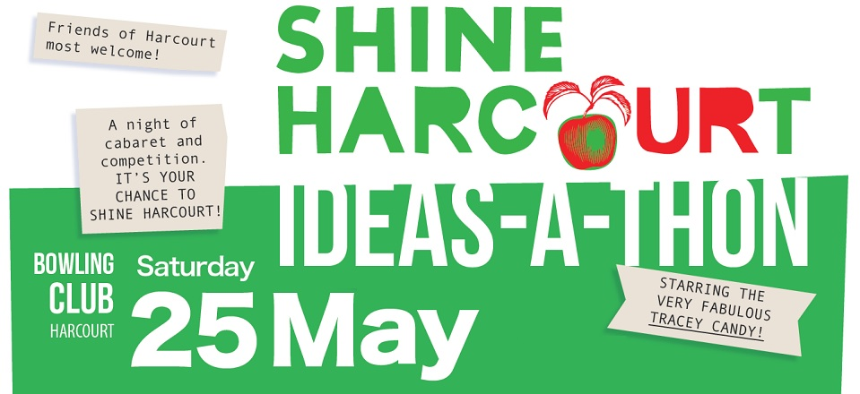 Ideas-a-thon promotion - share your ideas about Harcourt