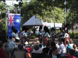 Australia Day 2008 Castlemaine Highland Pipe Band