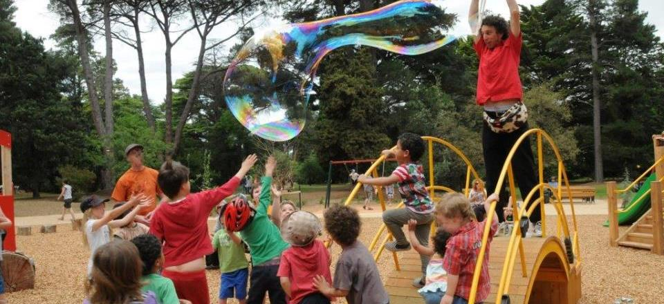 Image: Castlemaine Botanical Gardens Playground  Link to child page: Events and venues