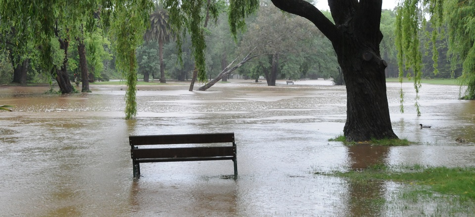 Castlemaine Botanical Gardens flood