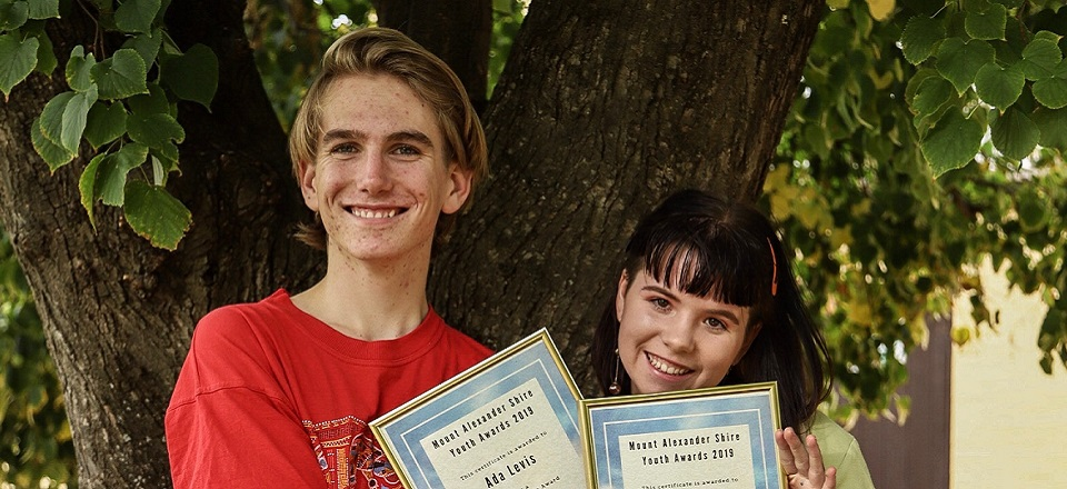 Image: Youth Awards Winners Cohen and Ada  Link to child page: 2019 Youth Awards