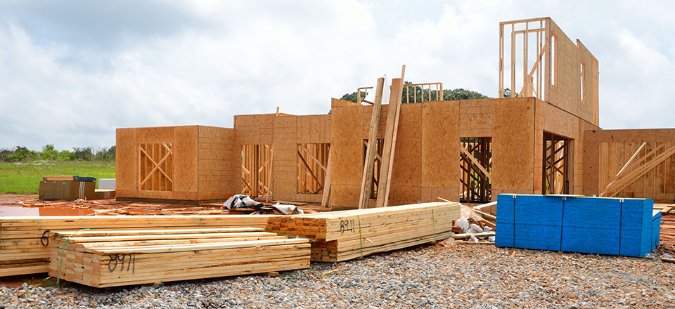 Image: A new home being constructed  Link to child page: Building