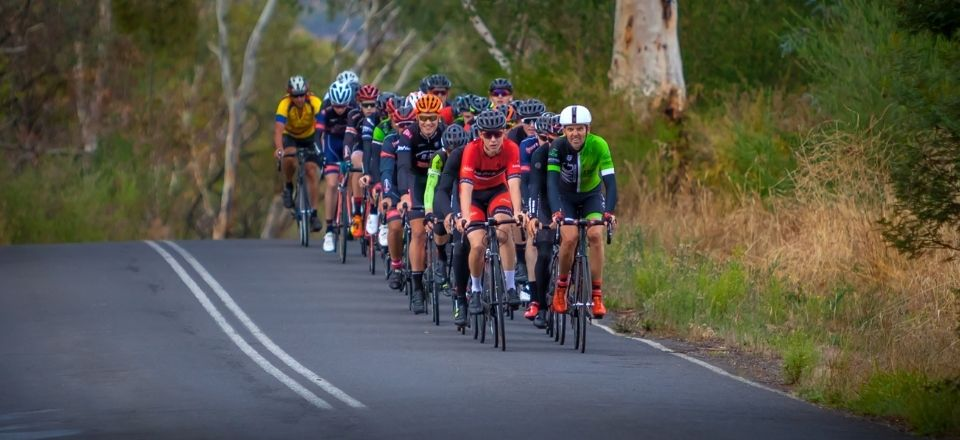 Cyclists crew in Mount Alexander Shire. Image by Richard Baxter.