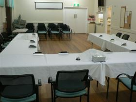 Image inside the Senior Citizens Hall in Castlemaine