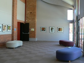 Internal view of the foyer at the Phee Broadway Theatre, Castlemaine
