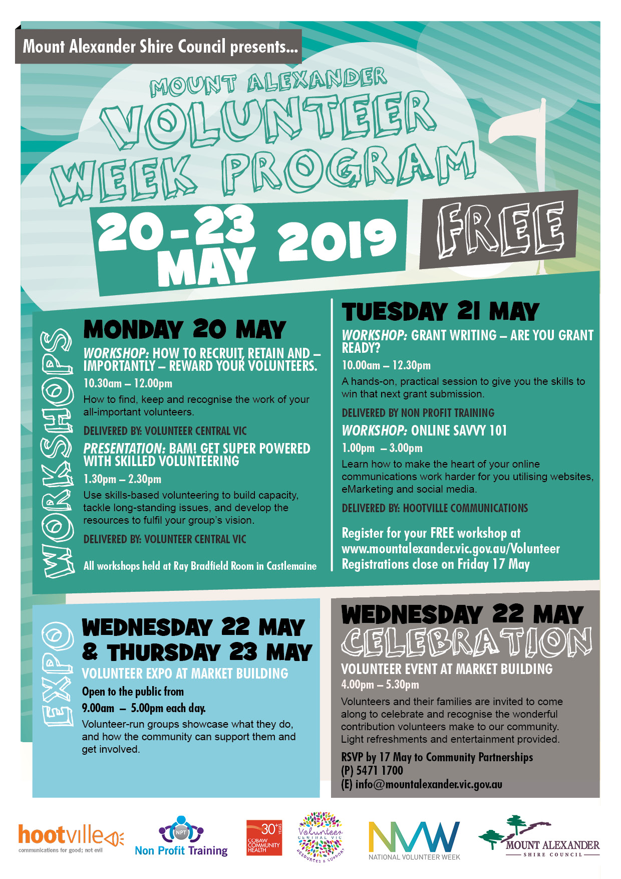 Volunteer Week Program 2019 poster