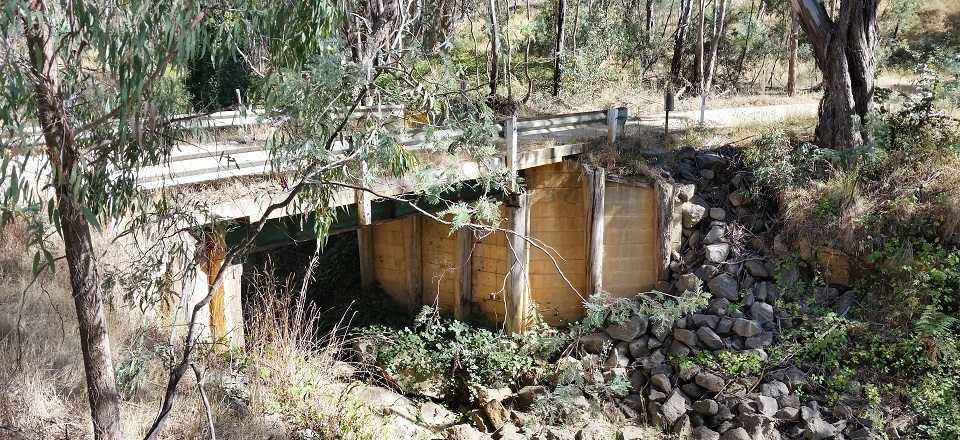 This bridge in Old Drummond Road in Taradale will be replaced in June.