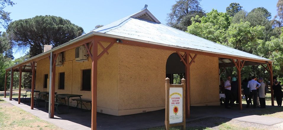 Refurbished roof tiles on Former Tea Rooms at Castlemaine Botanical Gardens.