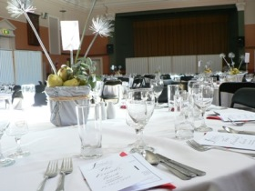 Image of a function set up in the Town Hall, Castlemaine